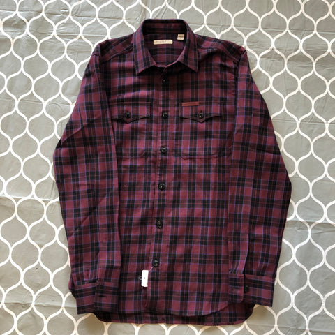 Burberry Purple Stripe Button Up