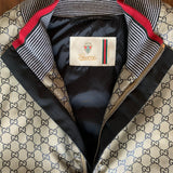 Gucci GG Canvas Zip Up Nylon Bomber Jacket