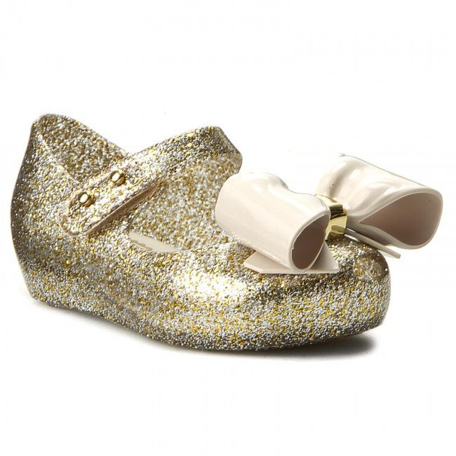2c924f4890 Mini Melissa Ultragirl VIII in Gold Glitter (Size 5) – The Girls ...
