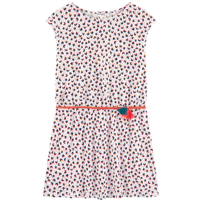 Catimini Girl's Micro-printed Jersey Dress (4Y, 5Y, 8Y)