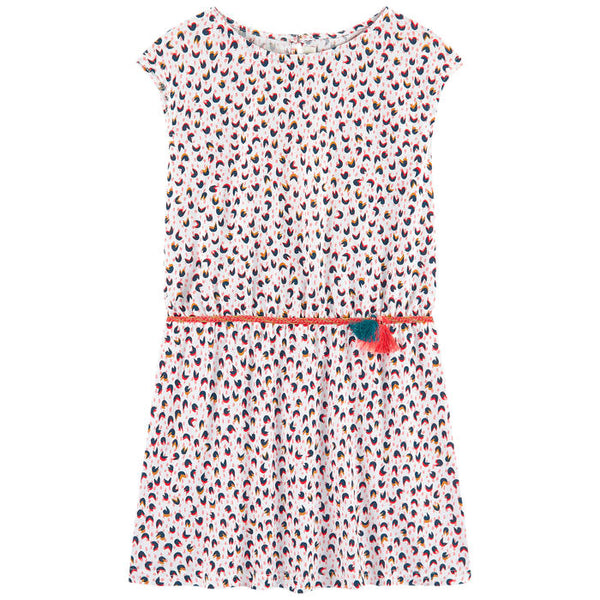 Catimini Girl's Micro-printed Jersey Dress