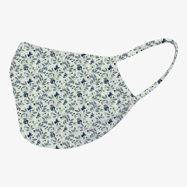 Washable Face Mask with Antimicrobial Protection - Traditional Floral