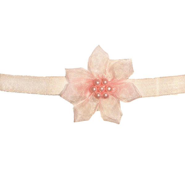 No Slippy Hair Clippy -  Grace Baby Flower Headband