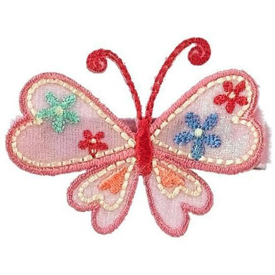 No Slippy Hair Clippy - Karielle Pink Butterfly Novelty Hair Clip