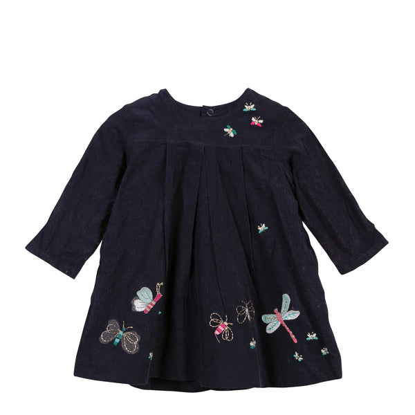 Catimini Embroidered Corduroy Embroidery Dress (12m, 18m)