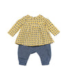 Catimini Blouse + Chambray Pants (3m - 18m)