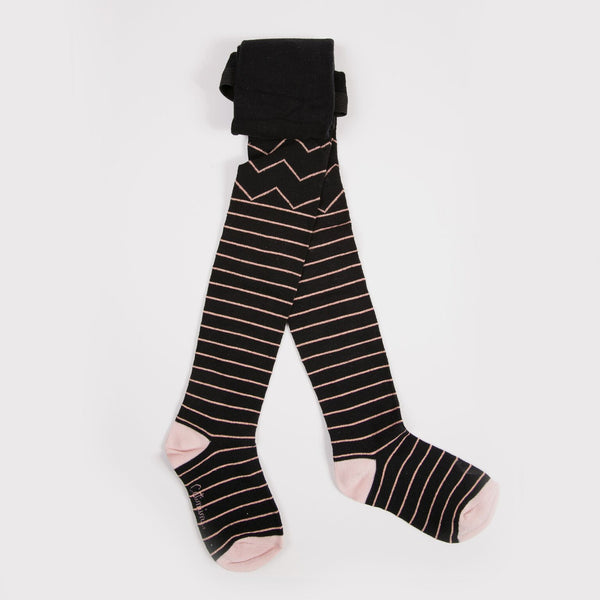 Catimini: Rosegold Striped Tights