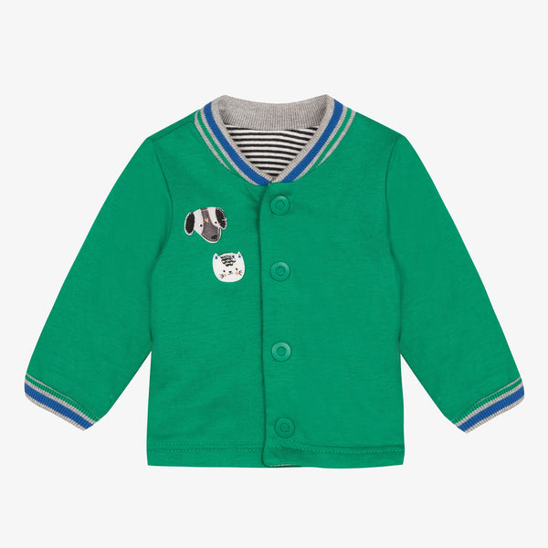 Catimini Baby Boy Green Striped Reversible Jacket