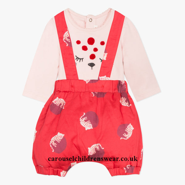 Catimini Baby Girl Romper and T-Shirt Set