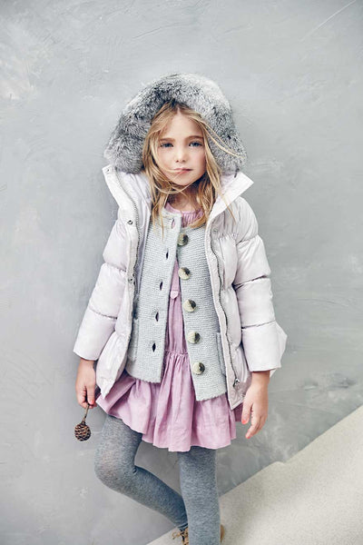 Olympia Down Coat  in Lavender Fog (Size 2, 4)