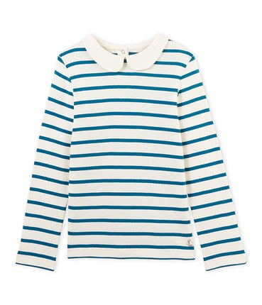 Petit Bateau Long-Sleeved Striped T-shirt (Size 3, 8, 10, 12)