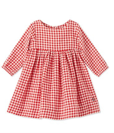 PETIT BATEAU Red/White Checker Dress