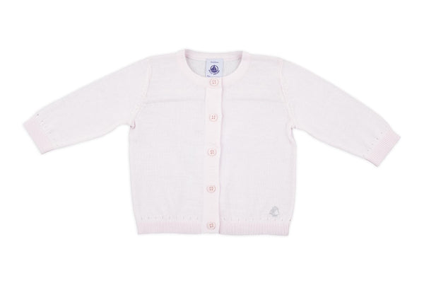 Petit Bateau: Baby Knit Cardigan in Light Pink
