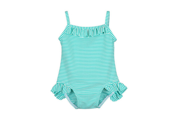 Baby Girl Striped Swim Suit