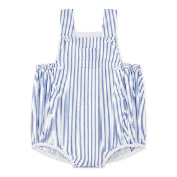 Petit Bateau Baby Boy Striped Overall