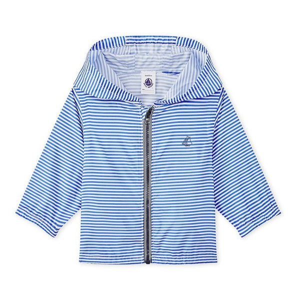 Petit Bateau Blue Striped Windbreaker