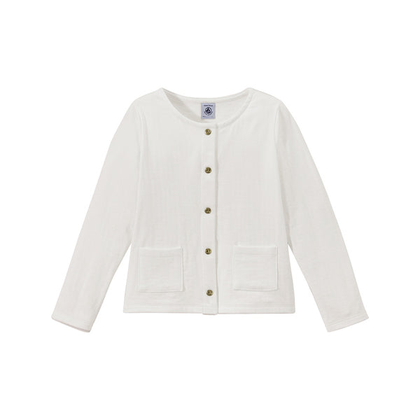 Petit Bateau Girl Cardigan with Front Pockets