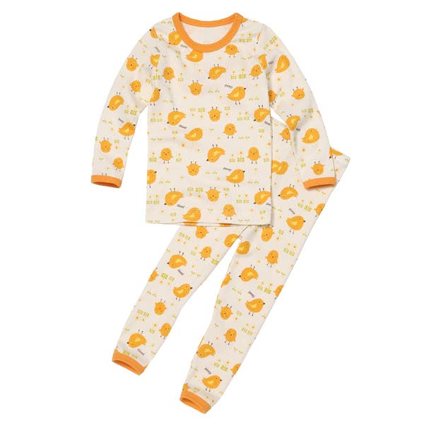 Organic 2 Pieces Pajama Set - Yellow Garden