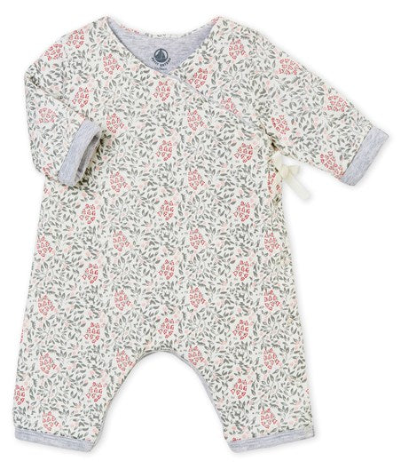 Petit Bateau Baby Girl Printed Coverall in Multi (6m, 12m, 18m)