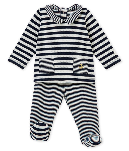 Petit Bateau Baby Boy 2 PC Striped Set
