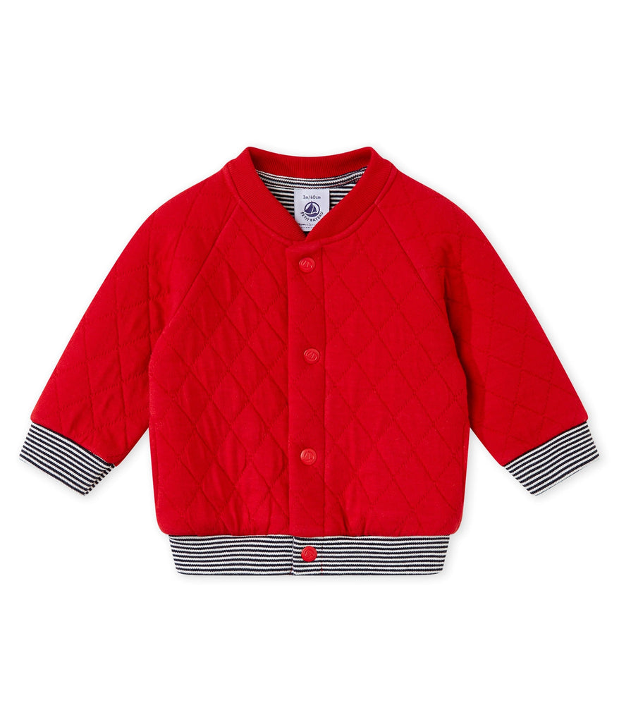 Petit Bateau Baby Boy Quilted Red Jacket