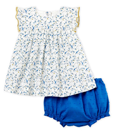 Petit Bateau Baby Girl's Printed Dress and Bloomers