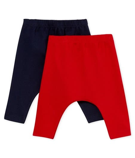 Petit Bateau Baby Leggings Set of 2 (1m, 3m, 6m, 12m, 18m)