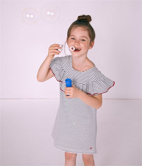 Petit Bateau Girl's Stripe Dress