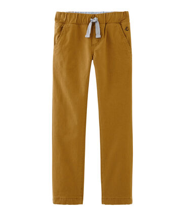 Petit Bateau Boy's Warm Lined Pants in Brown