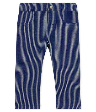 Petit Bateau Baby Boy Denim Striped Pants