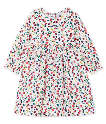 Petit Bateau Baby Girls' Long-Sleeved Floral Dress