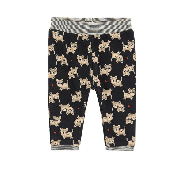 Catimini: Tiger Print Fleece Pants