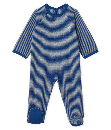 Petit Bateau Baby Boys' Footie in Extra Warm Brushed Terry