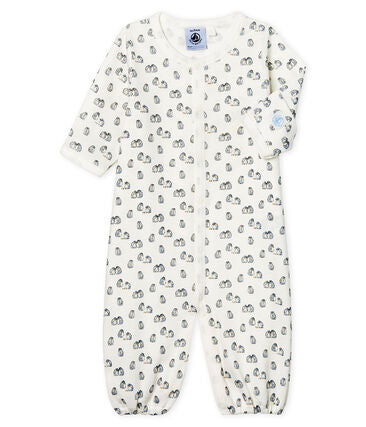 Petit Bateau Baby Ribbed Jumpsuit/Sleeping Bag