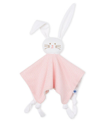 Petit Bateau Baby Pink Bunny Toy