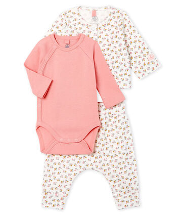Petit Bateau Baby Girl Organic Cotton 3-Piece Set