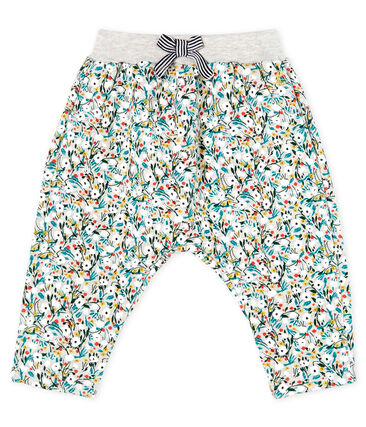 Petit Bateau Baby Girls' Printed Fleece Pants