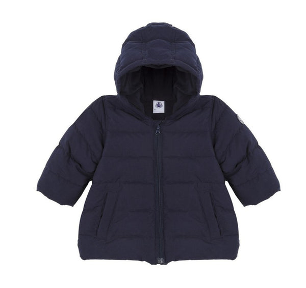 Petit Bateau Baby Hooded Jacket in Navy