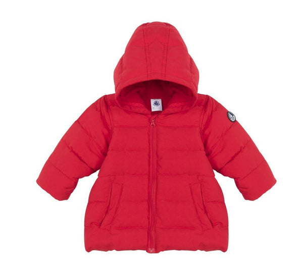 Petit Bateau Baby Hooded Jacket in Red