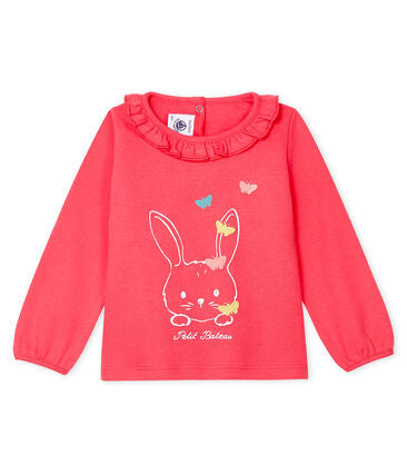 Petit Bateau Baby Girls' Long-Sleeved Blouse