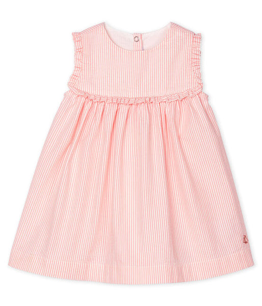 Petit Bateau Baby Girls' Sleeveless Striped Dress