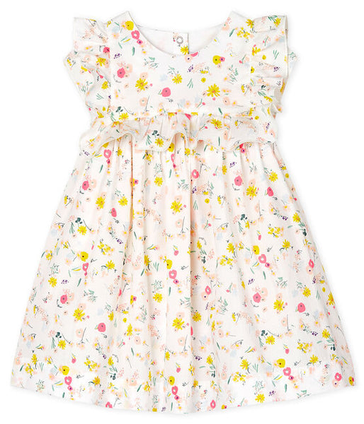 Petit Bateau Baby Girls' Printed Short-Sleeved Dress