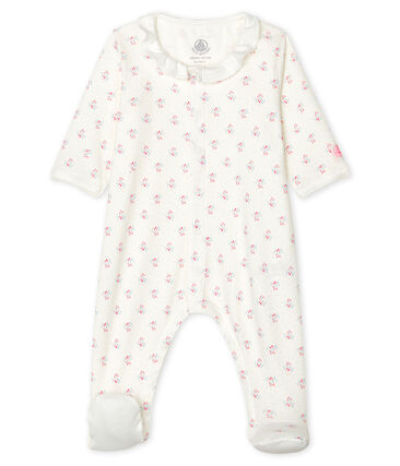 Petit Bateau Baby Girls' Ribbed Sleep-suit