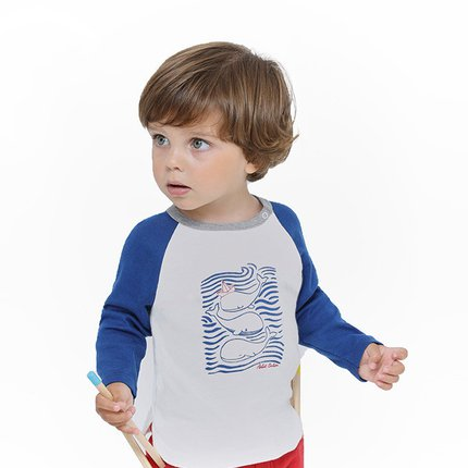 Petit Bateau Baby Boy's Long Sleeve Graphic T-shirt