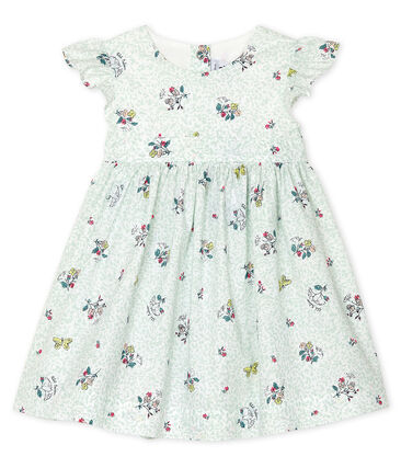 Petit Bateau Baby Girls' Short-Sleeved Print Dress