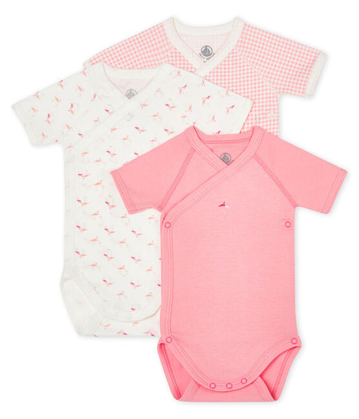 Petit Bateau Organic Cotton Short-Sleeved Newborn Bodysuit - 3-Piece Set