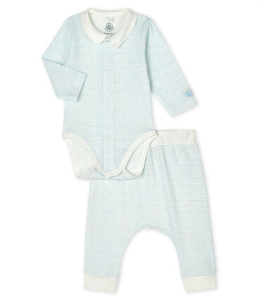 Petit Bateau Baby Boys' Ribbed Clothing 2-Piece Set