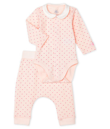 Petit Bateau Baby Girls' Ribbed Clothing 2-Piece Set