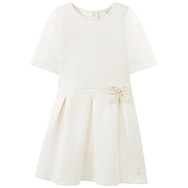 Petit Bateau Embossed Dress in Ivory - 30% OFF(size 4)