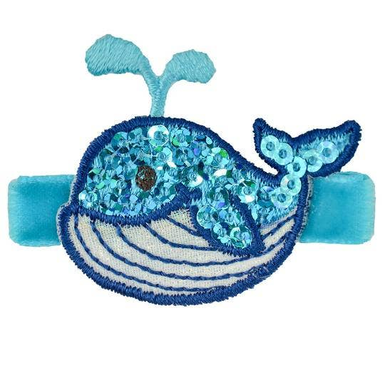 Seraphina Whale Novelty Hair Clip